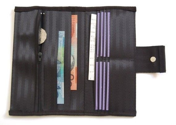 Upcycled Womens Seatbelt Wallet