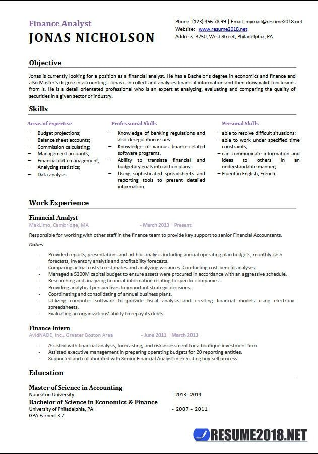 Resume Format 2018 Examples Resume Format Executive Resume Account Executive Cover Letter For Resume