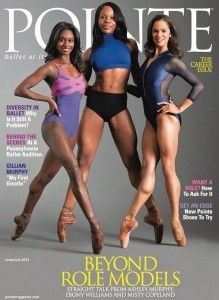 When was the last time you saw three black ballerinas on a magazine cover? I can save you some time. You've never seen that — unless you've already spotted Pointe magazine's June/July 2014 cover. For its annual career issue, Pointe enlists Dance Theatre of Harlem's Ashley Murphy, Cedar Lake Contemporary Ballet's Ebony Williams and the American Ballet Theater's Misty Copeland to discuss an ongoing problem in ballet communities: lack of diversity.