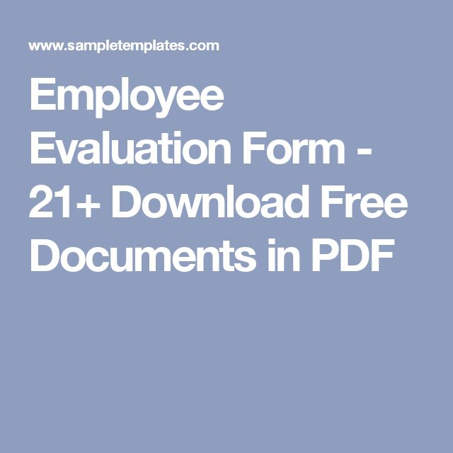 Best 25+ Employee evaluation form ideas on Pinterest Self - employee self evaluation form