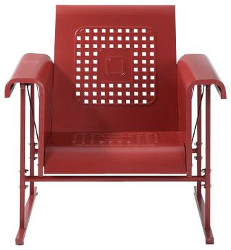 Veranda Single Glider Chair - contemporary - Outdoor Gliders - Pot Racks Plus