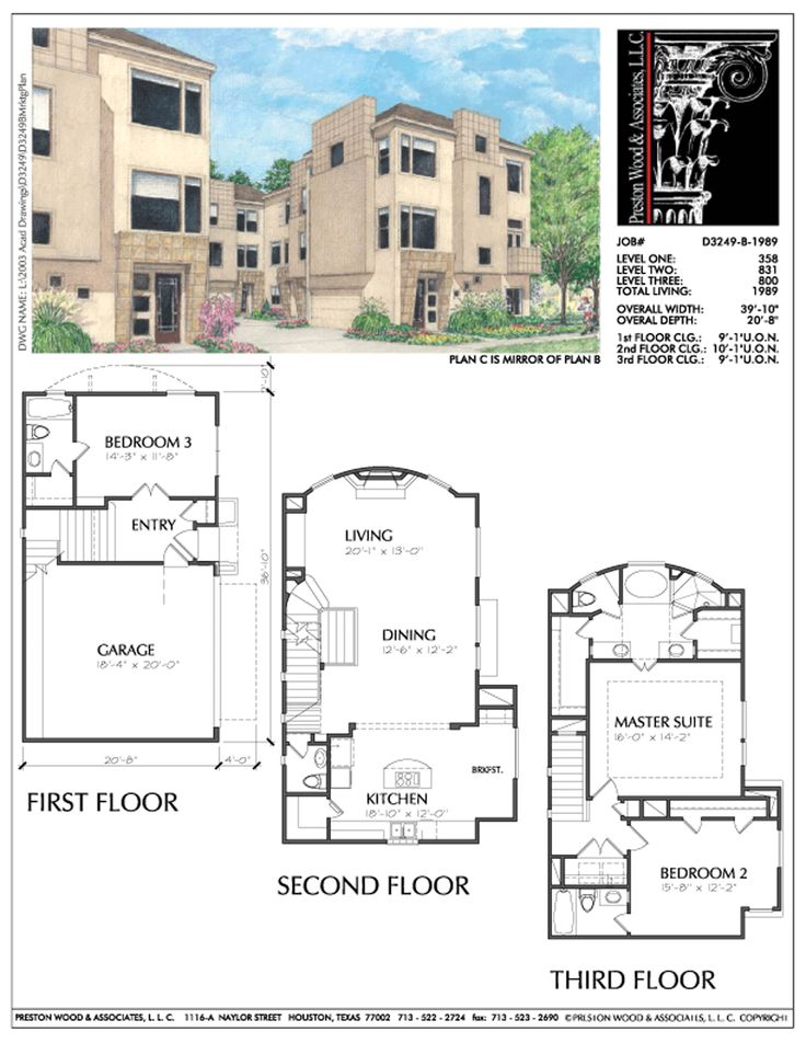565 best 3 story th plan images on pinterest floor plans for 3 story townhome plans