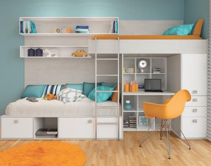 Smart way to save space for a teens room!