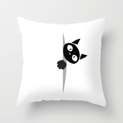 Cat inside Throw Pillow by Shu | Formanuova - $20.00