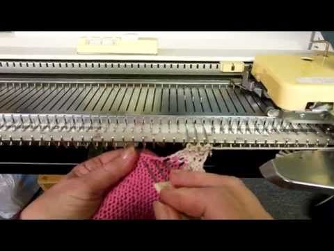 Machine Knitting Experiences: Raised Diagonal Half-Cable Trim (part 1) by Carole Wurst - YouTube