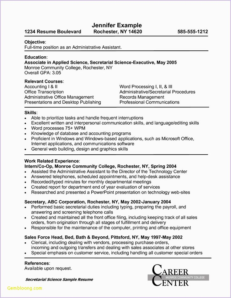 Pin by Kristan Petrocelli on Office Resume Examples