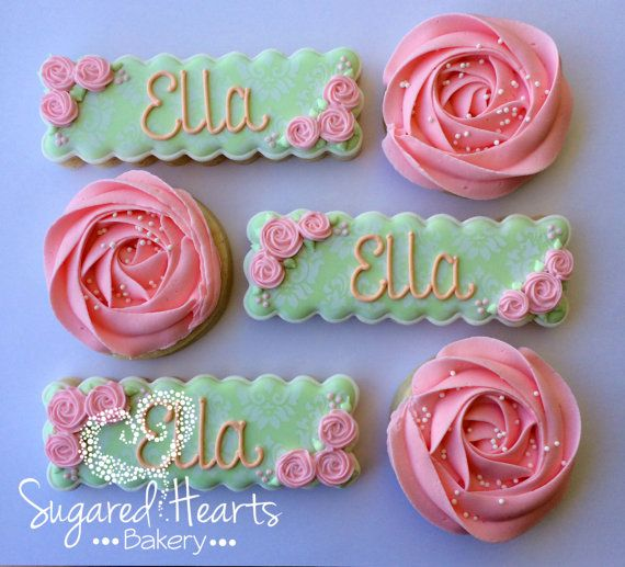 Bridal Shower Birthday Personalized Shabby by SugaredHeartsBakery