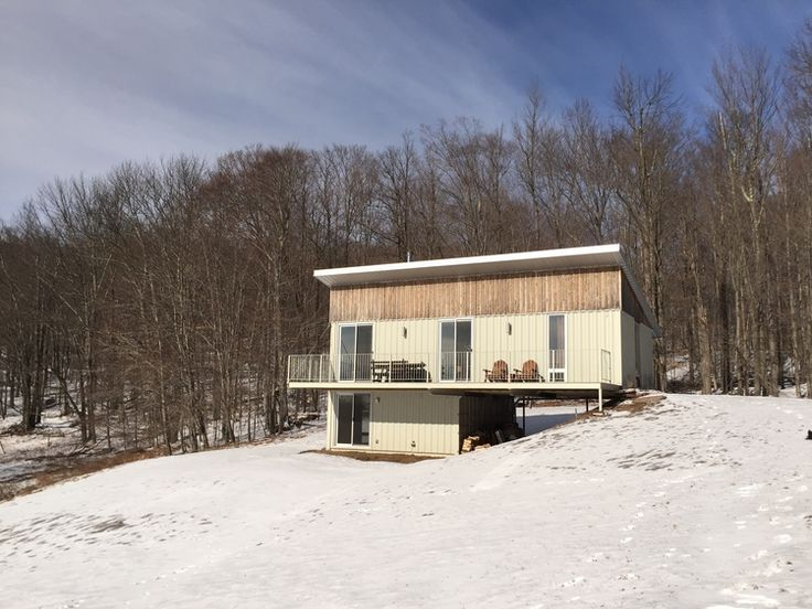 One of a number of houses made of shipping containers that have popped up in Sullivan County in The Catskills.