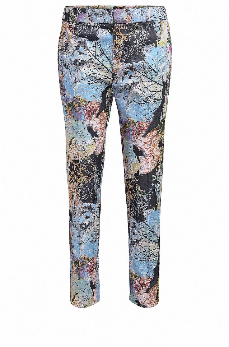 Relaxed-fit trousers in nature-inspired print  Patterned from BOSS Orange for Women in the official HUGO BOSS Online Store free shipping
