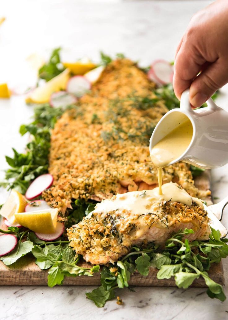 parmesan crusted salmon with lemon cream sauce recipe tin lemon cream ...