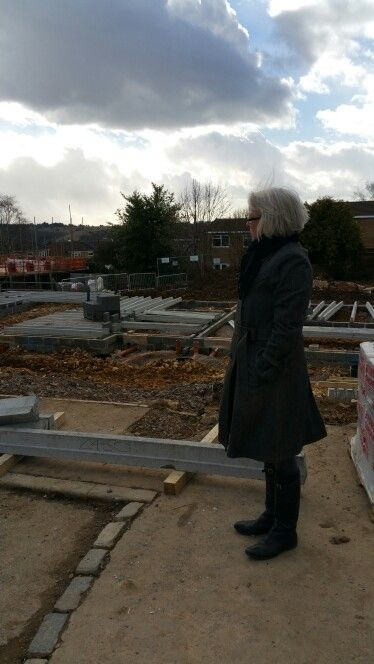 Checking out the new social housing development that I initiated