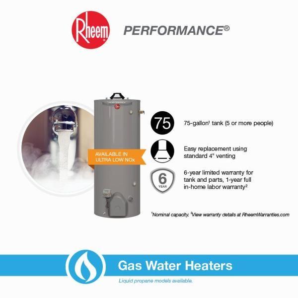 Performance Tank Gas Water Heater Plumbing The Home Depot In 2020 Water Heater Gas Water Heater Performance Tank