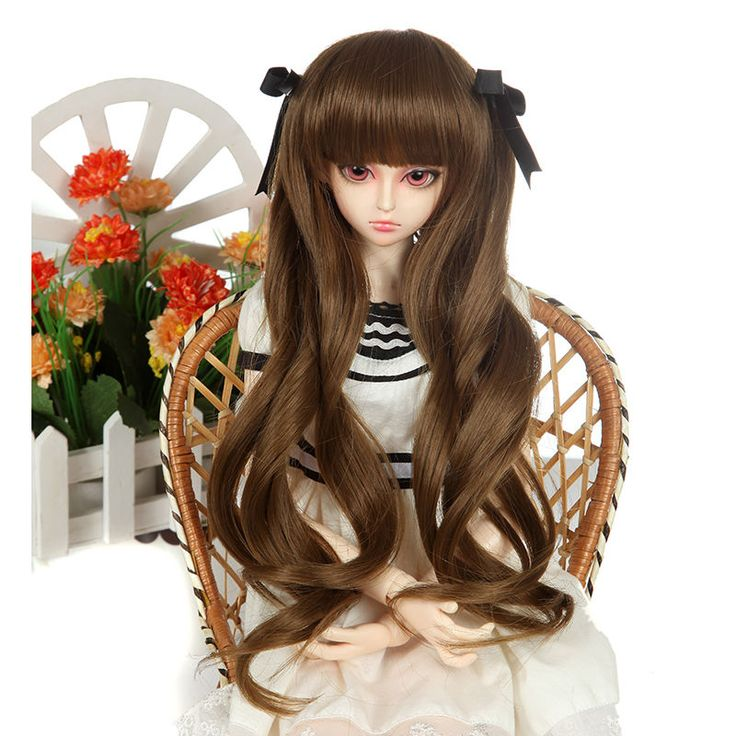 """New 9-10"""" 1/3 Brown Curly Medium Girl Beauty Heat Resistent SD Doll BJD Wigs 22# in Clothing, Shoes & Accessories, Women's Accessories, Wigs, Extensions & Supplies   eBay"""
