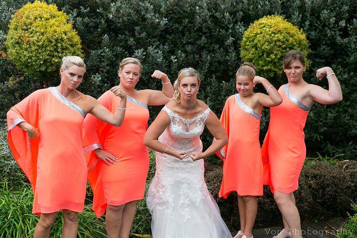 bridesmaids in orange! @vonphotography