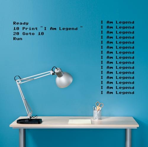 I Am Legend: Stickers Spin, Blue Wall, Retro Wall, Apples Computers, Custom Wall, Wall Stickers, Retro Basic, Spin Collection, Basic Custom