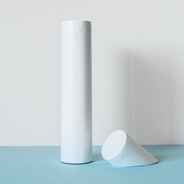 Minimal and sleek, this is Login. Both objects are made from American Oak and painted in classic white. One can be used as a lamp stand for your phone, while the other can travel with you or become a discreet stand, or charging dock.  If you just have to have one, email us for pre-orders via contact@lesbasic.com Launching soon!