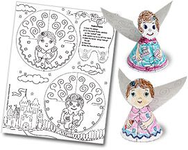 Tooth Fairy Coloring Sheet and Puppets. Free Dental Fun for young dental patients of all ages.