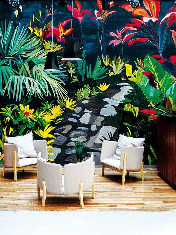 hotel Arroyo, de #BuenosAires #Hoteles con deco de estilo tropical