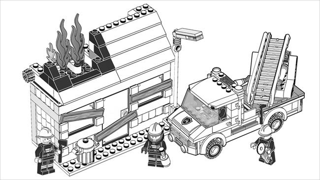 lego fire station coloring pages - photo#24