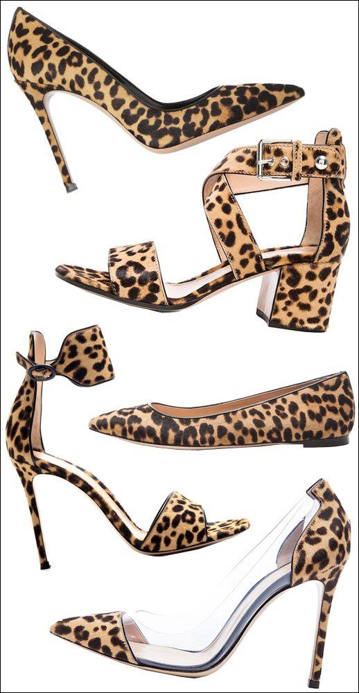 Gianvito Rossi Animal Print Shoes