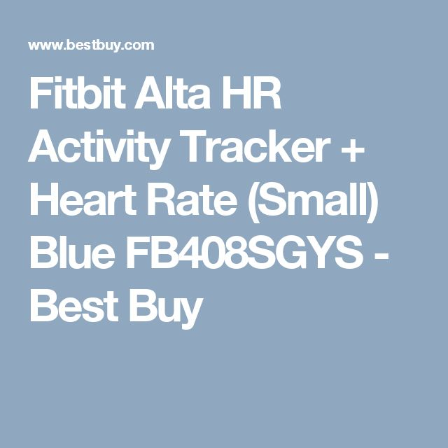 Fitbit Alta HR Activity Tracker + Heart Rate (Small) Blue FB408SGYS - Best Buy