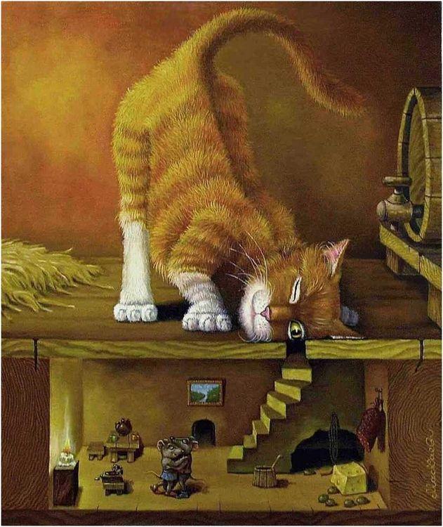 Днем, коты прикольные картинки декупаж