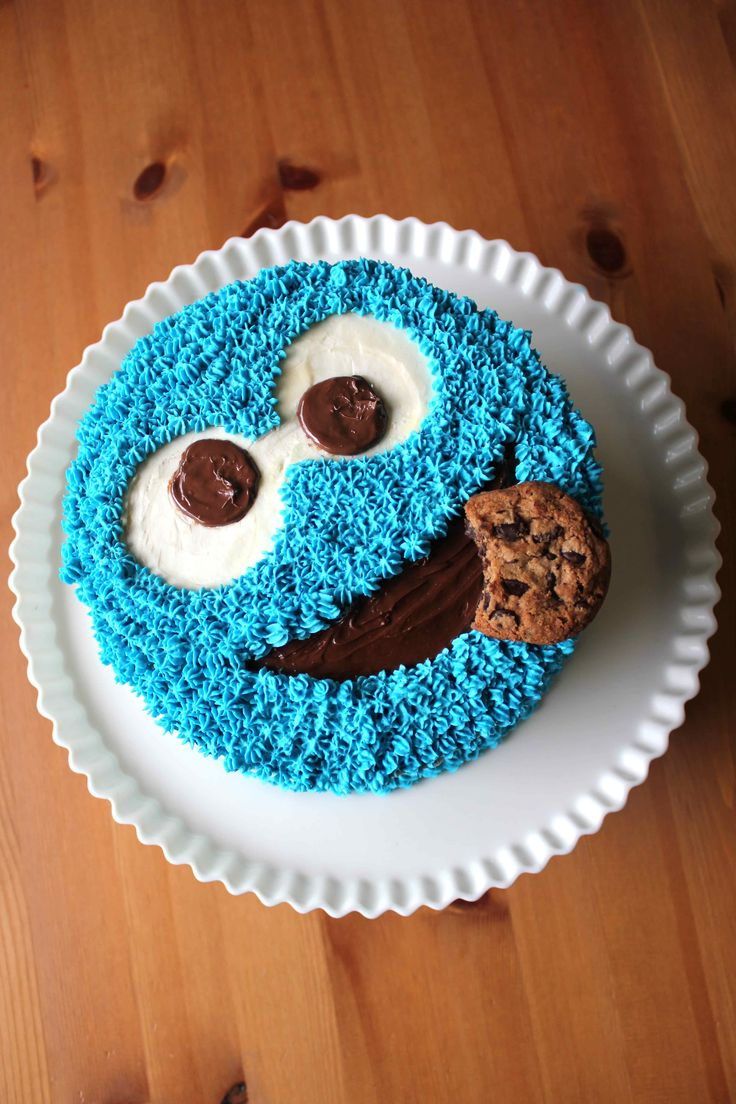 Cookie Monster Cake Simple If A Little Time Consuming