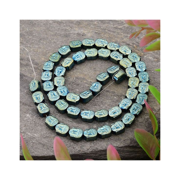 Perle en Hematite Tête de Bouddha 8.5x7x4 mm Light Green Metallic - Perles & Co