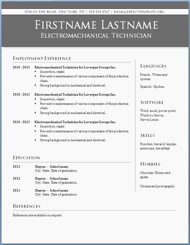 Resume Sample Accounting Technician Unique Gallery Resume Font