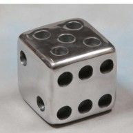 Metal Dice paper weight for office desk