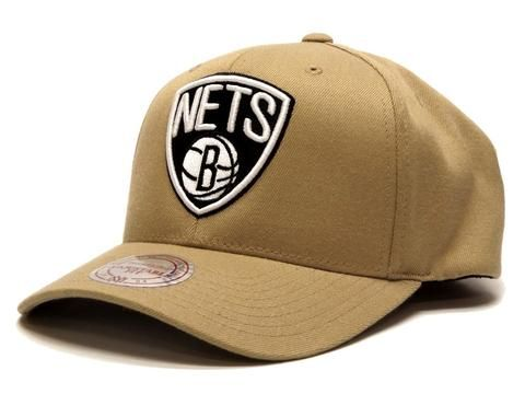 Mitchell & Ness Flex 110 Snapback Nets - Khaki #Mitchellandness #Snapback #nba #nets #brooklyn