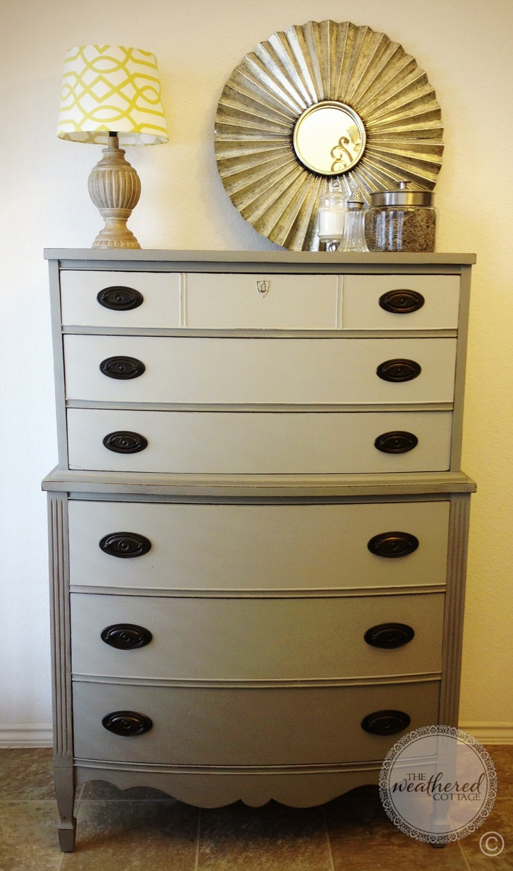 Annie sloan chalk paint bathroom cabinets - Ombre French Linen Dixie Dresser Painted In Chalk Paint Decorative Paint By Annie Sloan Now