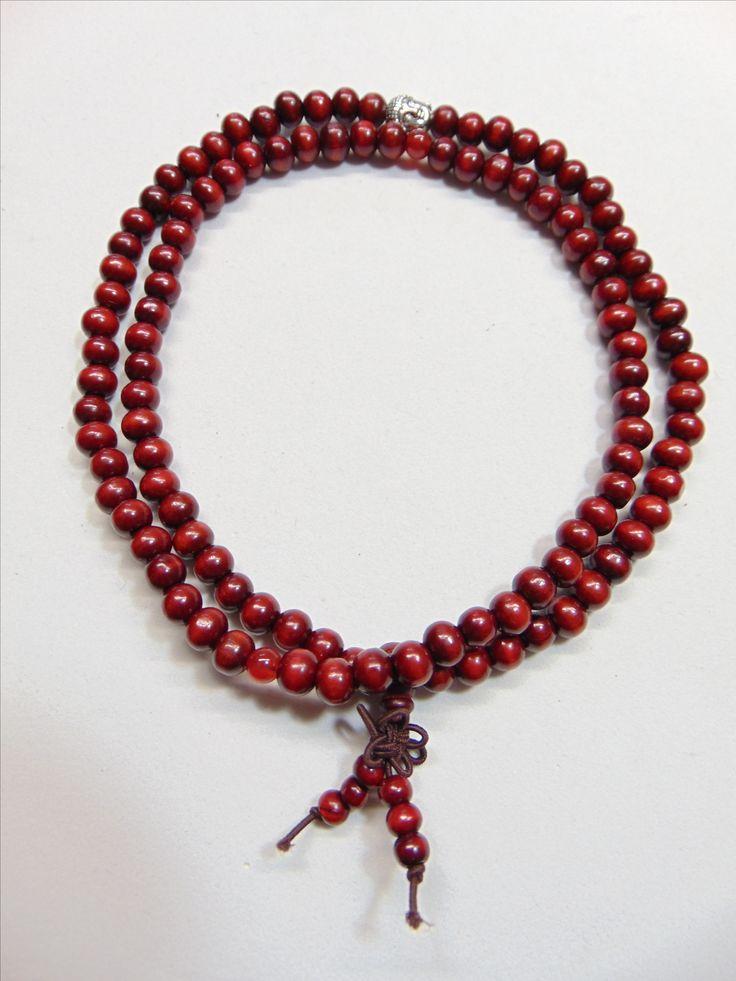 Wrist Mala Red Sandalwood 49$ visit: www.facebook.com/artsymika or www.artsymika.com