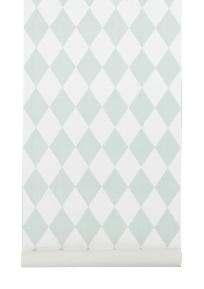 Ferm Living Tapete Harlequin : Harlequin – Mint Tapet ferm LIVING L?nna M?bler Handla online