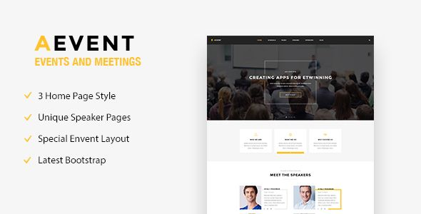 Funky Event Management Html Template Embellishment - Resume Template ...