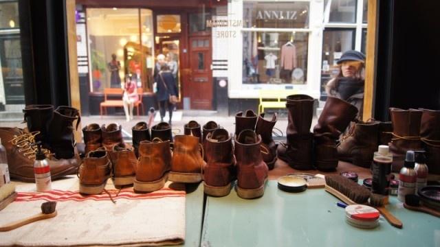 Shoe Care day #redwing #redwingamsterdam #usbootsfreak