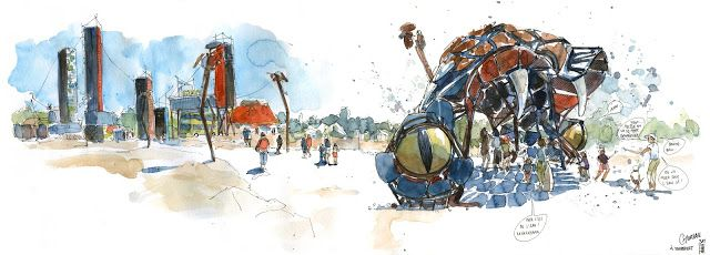 Urban Sketchers France L Ete A Nantes Ou L Art Du Voyage Art