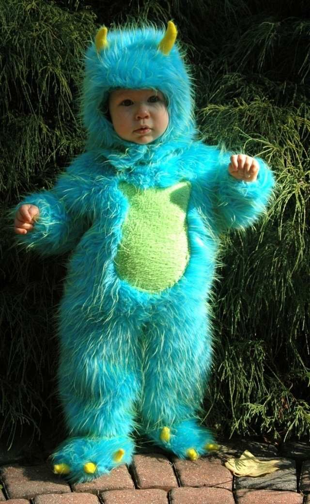 sulley mini monsters inc halloween costume baby - Baby Monster Halloween Costumes