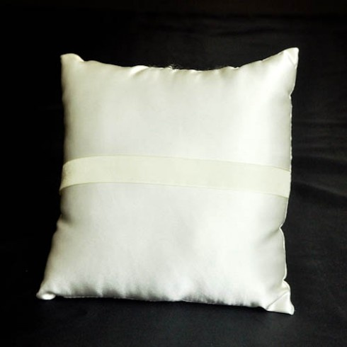 Ivory plain wedding ring pillow - Wedding Ring Pillows