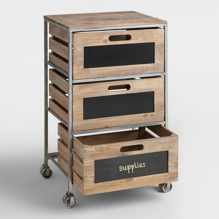 1000 ideas about rolling carts on pinterest room for Ikea metal cart with drawers