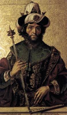 David c. 1500 - Pedro Berruguete Oil on wood, 110 x 80 cm Santa Eulalia, Paredes de Nava