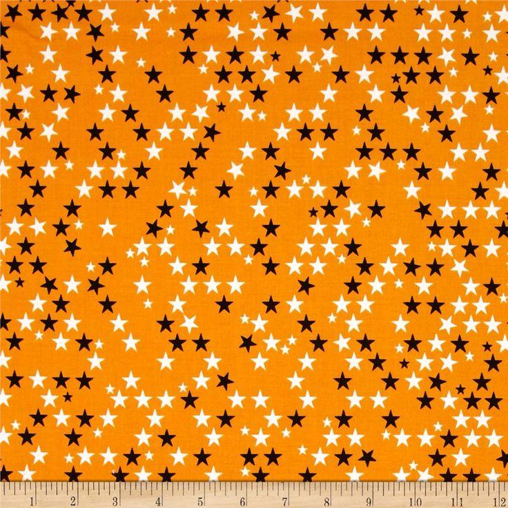 riley blake halloween magic glow in the dark stars orange - Black And Orange Halloween