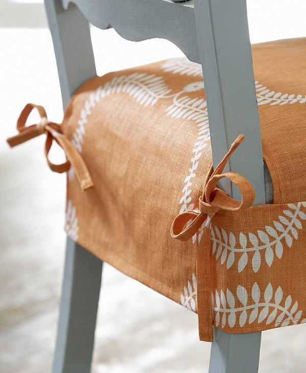 Simple Slipcover With Ties On Dining Chair Kitchen Chair Covers