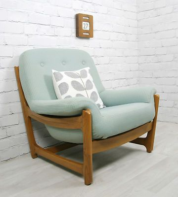 ERCOL RETRO VINTAGE WYCHWOOD MIDCENTURY MODERN ARMCHAIR CHAIR EAMES ERA 50s 60s