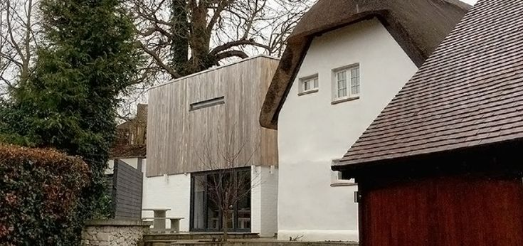 refurbishment, extension and internal alterations to save a Listed thatched…