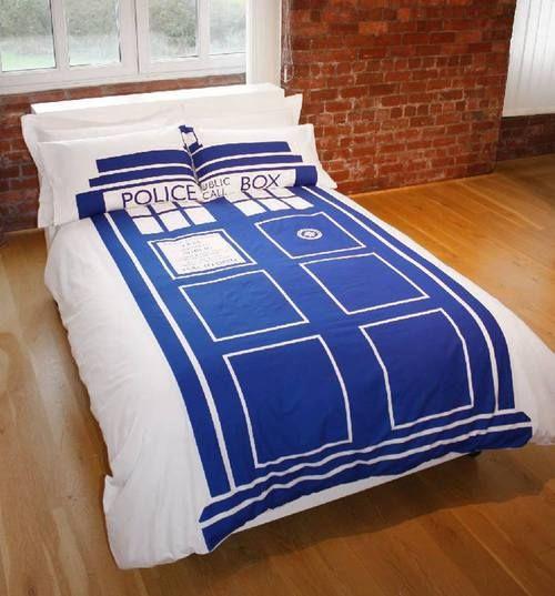 Doctor Who Tardis ensemble de couette!