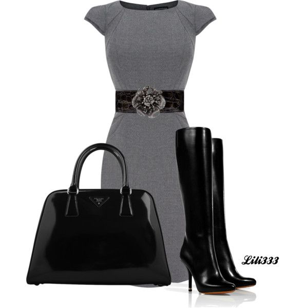 #womens fashion. #work attire #boots such an awesome look....classic