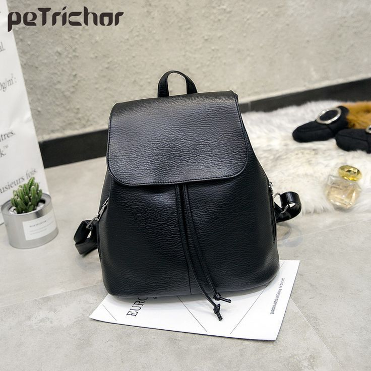 https://buy18eshop.com/petrichor-simple-style-women-pu-leather-backpacks-for-teenage-girls-school-bags-casual-solid-string-softback-shoulder-bag/  Petrichor Simple Style Women PU Leather Backpacks For Teenage Girls School Bags Casual Solid String Softback Shoulder Bag   //Price: $19.34 & FREE Shipping //     #buy18eshop