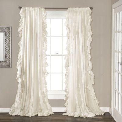 House of Hampton Eton Curtain Panels Color: Ivory