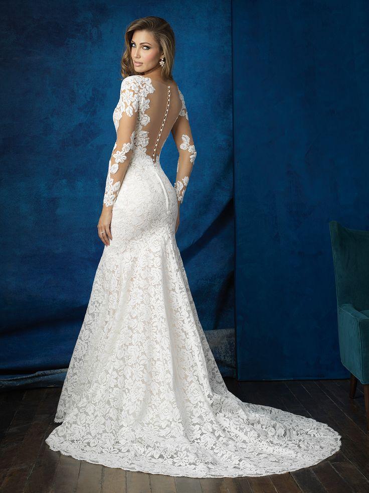 Best 25 allure bridal lace ideas on pinterest allure for Allure long sleeve wedding dress
